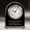 Click this Image to visit the  Engraved Black Finish Desk Clocks category.