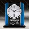 Click this Image to visit the  Engraved Blue Finish Desk Clocks category.