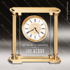 Click this Image to visit the  Engraved Gold Finish Desk Clocks category.