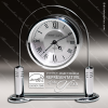 Click this Image to visit the  Engraved Silver Finish Desk Clocks category.