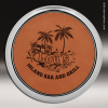 Click this Image to visit the  Leather Round Metallic Edge Coasters category.