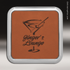Click this Image to visit the  Leather Square Metallic Edge Coasters category.