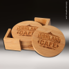 Click this Image to visit the Wood Round Edge Coaster Sets category.