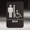 Men With Wheelchair ADA Sign ADA Signs