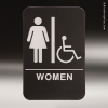 Women With Wheelchair ADA Sign ADA Signs