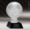 Glass Black Accented Soccer Ball Trophy Award Ball Trophy Awards