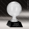 Glass Black Accented Glass Basketball Trophy Award Ball Trophy Awards