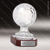 Crystal Sport Rosewood Accented Soccer Ball Trophy Award Ball Trophy Awards