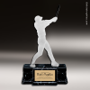 Resin Frosted Action Series Baseball Female Trophy Award Baseball Trophies