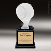 Resin Frosted Ball Pedestal Series Baseball Trophy Award Baseball Trophies