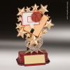 Resin Starburst Series Basketball Trophy Award Basketball Trophies