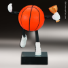 Resin Soft Sports Buddy Series Basketball Trophy Award Basketball Trophies