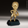 Resin Metallic Bobble Head Series Basketball Female Trophy Award Basketball Trophies