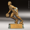 Resin Antique Gold Series Basketball Male Trophy Award Basketball Trophies