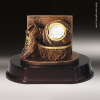 Desk Gift Premium Resin Bronze Series Basketball Clock Award Basketball Trophies