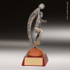 Resin Action Star Series Basketball Trophy Award - Female Basketball Trophies