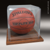 Clear Acrylic Basketball | Soccer Ball Display Case Basketball Trophies