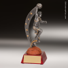 Resin Action Star Series Basketball Trophy Award - Male Basketball Trophies