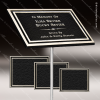 Cast Aluminum Plaques with Insert - Black and Silver Cast Aluminum Plaques with Exterior Plastic Insert