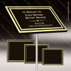 Cast Aluminum Plaques with Insert - Bronze and Gold Cast Aluminum Plaques with Exterior Plastic Insert
