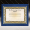 The Model Leatherette Certificate Holder Frame Blue With Gold Foil Border Certificate Holders