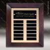 The Talamo Cherry Frame Perpetual Plaque  12 Black Plates Cherry & Mahogany Perpetual Plaques
