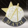 Lapel Pin - Math Academic Metal Chenille Letter Insignia Color Lapel Chenille Pins