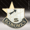 Lapel Pin - Economics Academic Metal Chenille Letter Insignia Color Lapel Chenille Pins