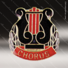 Lapel Pin - Music - Chorus Lapel Pin Color Lapel Chenille Pins