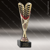 Cup Trophy Economy Gold Cone Red Accented Modern Cup Award Cone Cup Trophy Awards