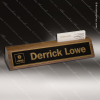 Desk Gift Engraved Walnut Name Plate Desk Wedge with Business Card Holder Corporate Trophy Awards