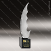 Artistic Black Accented Art Glass Jacarei Saber Sculpture Trophy Award Corporate Trophy Awards
