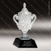 Crystal Black Accented Lidded Cup Trophy Award Crystal Cup Trophy Awards