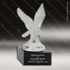 Glass Black Accented Glass Eagle Landing Sculpture Trophy Award Crystal Sculpture Trophy Awards