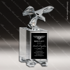 Crystal  Mighty Eagle Trophy Award Crystal Sculpture Trophy Awards