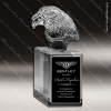 Crystal  Eagle Head II Trophy Award Crystal Sculpture Trophy Awards