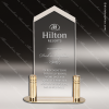 Economy Acrylic Gold Accented Clear Frosted Arrow Trophy Award Economy Acrylic Awards