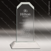 Economy Acrylic  Clear Frosted Clipped Corners Trophy Award Economy Acrylic Awards