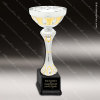 Cup Trophy Economy Silver Gold Accented Metal Loving Cup Award Economy Silver Series Cup Trophy Awards