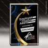 Acrylic Blue Accented Marbleized Shooting Star Trophy Award Employee Trophy Awards