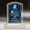 Acrylic Blue Accented Marbleized Arch Trophy Award Employee Trophy Awards