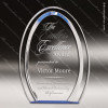 Acrylic Blue Accented Oval Halo Award Employee Trophy Awards
