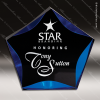 Acrylic Blue Accented Luminary Star Award Employee Trophy Awards