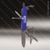 Laser Engraved Keychain Pocket Knife Multi-Tool 8 Function Blue Gift Award Engraved Multi-Tool & Knifes