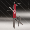 Laser Engraved Keychain Pocket Knife Multi-Tool 8 Function Red Gift Award Engraved Multi-Tool & Knifes