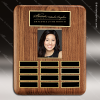 The Tefollla Walnut Perpetual Plaque  12 Black Plates Photo Engraved Photo Perpetual Plaques