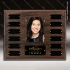 The Jahoda Laminated Cherry Perpetual Plaque  12 Black Plates Photo Engraved Photo Perpetual Plaques