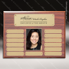 The Morvilla Laminate Walnut Perpetual Plaque  13 Gold Plates Photo Engraved Photo Perpetual Plaques