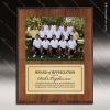 Engraved Walnut Finish Plaque Insert Photograph Engraved Photo Picture Plaques