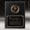 Corporate Economy Laminate Plaque Wall Clock Black Face Placard Award Engraved Plaque Wall Clocks